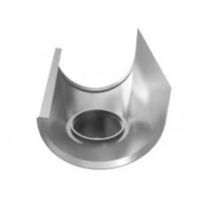 Tudstykke T120 - Til 70 mm nedløb - Blank aluminium
