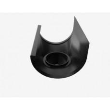 Tudstykke T120 - Til 70 mm nedløb - Sort aluminium